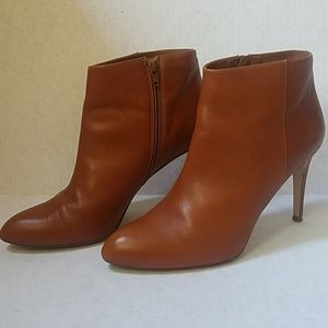 J crew size 11 leather almond toe stiletto booties
